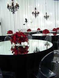 Red And Black Wedding Wedding Centerpiece Ideas Red And Black Party Themes Inspiration