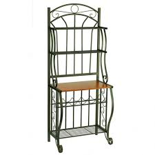 bakers rack target industrial kitchens design with cast chrome