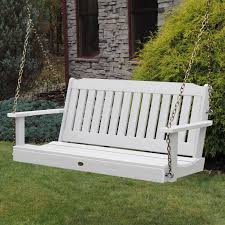 Swing Bench Outdoor by Highwood Lehigh Recycled Plastic Porch Swing From Hayneedle Com