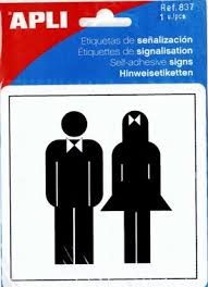Male Female Bathroom Signs by Smart Office Supplies Ltd