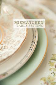 mismatched plates wedding setting a mismatched table