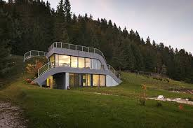 cool small homes homes built into hillside cool ideas house plans for homes built