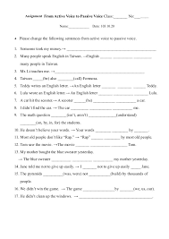 printables active and passive voice worksheet ronleyba