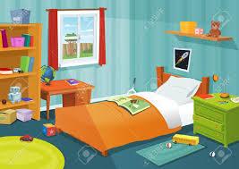 dessin chambre illustration de dessin animé enfants une chambre à coucher avec des