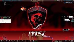 theme de bureau windows 7 msi gaming theme for windows 7 8 1 10