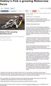 Motocross Sponsor Resume Published Work Mike Subocz