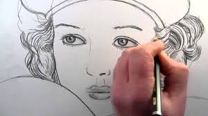 how to draw a female face side view youtube