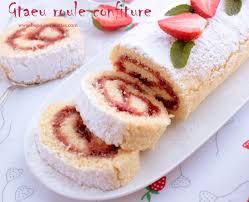 bonoise cuisine gateau roule a la confiture de fraise