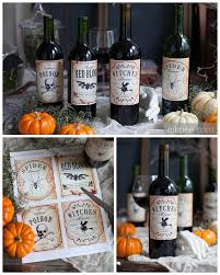 diy halloween wine bottle labels from elli if you see printables