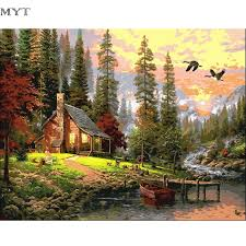 a frame home kits for sale compare prices on wood gifts oil paintings online shopping buy