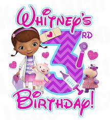 doc mcstuffins birthday doc mcstuffins birthday design pink purple chevrons