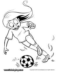 coloring pages soccer player eson me