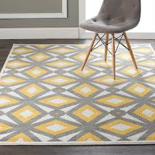 Yellow And Gray Outdoor Rug Modern Kaleidoscope Indoor Outdoor Rug A Retro Modern Kaleidoscope