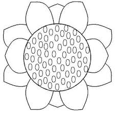 Close Up Sunflower Coloring Page Download Print Online Sunflower Coloring Page