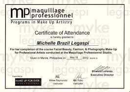 professional makeup artist certification hmua myke legaspi my hair make up artistry certificates