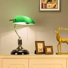 aliexpress com buy green glass lampshade classical bank lamp 1