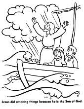 flood coloring pages christian to print and color for free