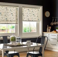 Hillarys Blinds Chesterfield Tranquility Luna Roller Blind By Style Studio Blue Floral Roller