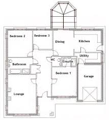 Four Bedroom Bungalow Floor Plan 3 Bedroom Floor Plan Bungalow Design Ideas 2017 2018 Pinterest