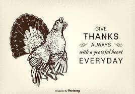 free thanksgiving turkey vector card free vector