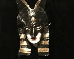 Anubis Halloween Costume Jackal Mask Etsy