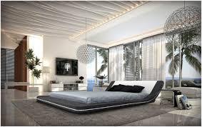 Modern Platform Bed Queen Bedroom Napoli Modern Platform Bed Cream Black Queen Great