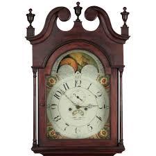 chippendale walnut tall case grandfather clock pennsylvania c