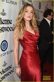johnny depp u0026 amber heard are red for art of elysium photo