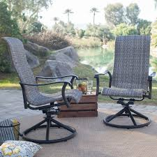 Outdoor Swivel Chair by Coral Coast Wimberley Padded Sling Swivel Rocker Dining Chairs