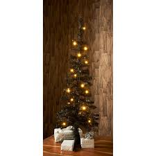 pre lit coloured tree 3 5ft black trees b m