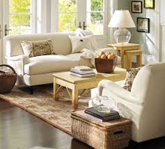 pottery barn sofa guide and ideas midcityeast white shaded table lamp on oak side table placed beside white pottery barn sofa
