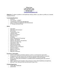 Sample Resume For Lvn by Lpn Resume Example Student Resume Template No Job Experience