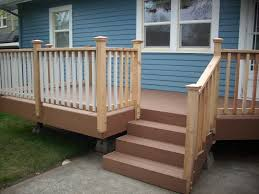 simple porch stair railing how to add a porch stair railing