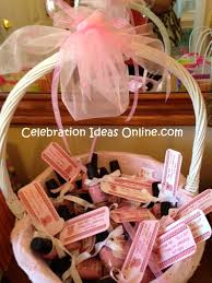 baby shower favor ideas pink nail with personalize