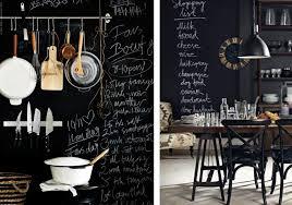 mur noir cuisine 10 idées pour un mur tableau noir joli place