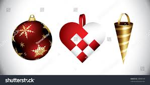 various christmas decorations your design bauble stock vector