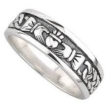 mens claddagh ring gents silver claddagh and celtic band