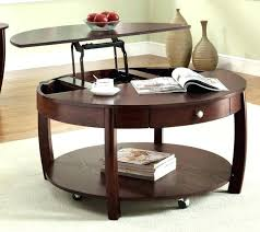 round coffee table with casters vintage lane round coffee table coffee table on casters vintage lane