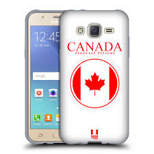 Canadian Flag Patch Head Case Designs Flag Patches Soft Gel Case For Samsung Galaxy J5