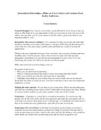 how to write a cover letter journalism letter idea 2018
