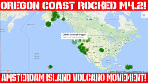 Map Oregon Coast by Earthquake Report April 4 2016 Oregon Coast Rocked M4 2