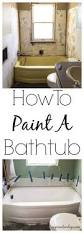 How To Refinish A Clawfoot Bathtub How To Paint A Bathtub Nujits Com