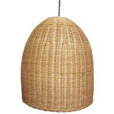 Wicker Pendant Light Rattan Dome Pendant Light Zest Lighting
