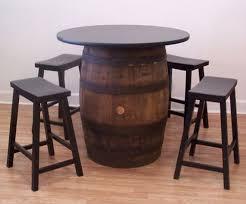 zipcode design lucai 36 pub table whiskey barrel table 36 table top 4 24 black bar