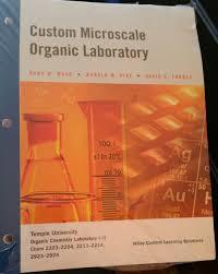 custom microscale organic laboratory amazon com books