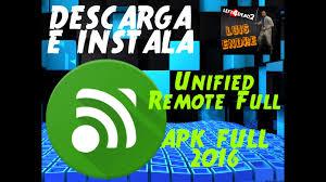 unified remote apk descarga unified remote 2016 apk link directo