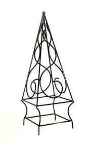 garden wrought iron pyramid topiary trellis with swirls 24h