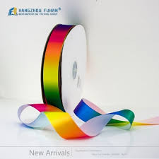 grosgrain ribbon bulk factory wholesale rainbow wave wide custom printed grosgrain ribbon