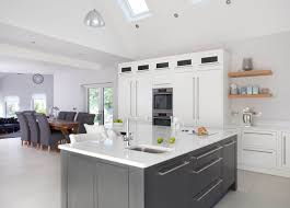 white and grey kitchen contemporary handmade pureline kitchen co tipperary ireland