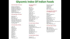 glycemic index of indian foods glycemic index of indian foods gi
